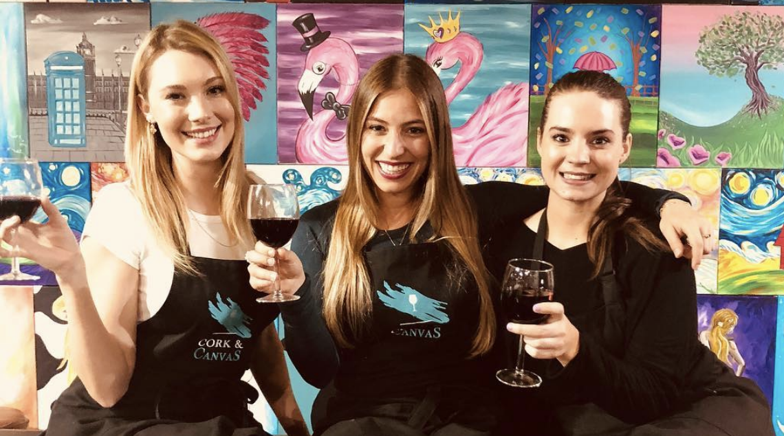 Australia's First Paint and Sip Studio   Cork and Canvas
