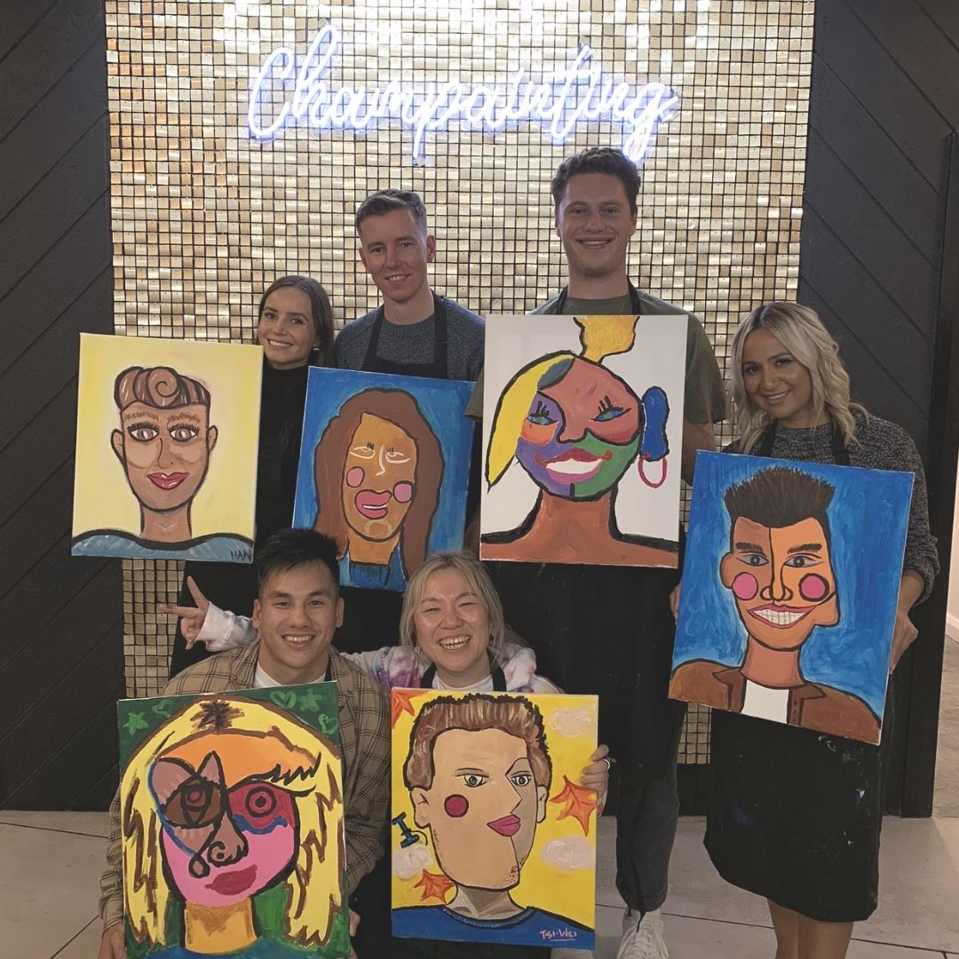 Paint and Sip Team Building Events